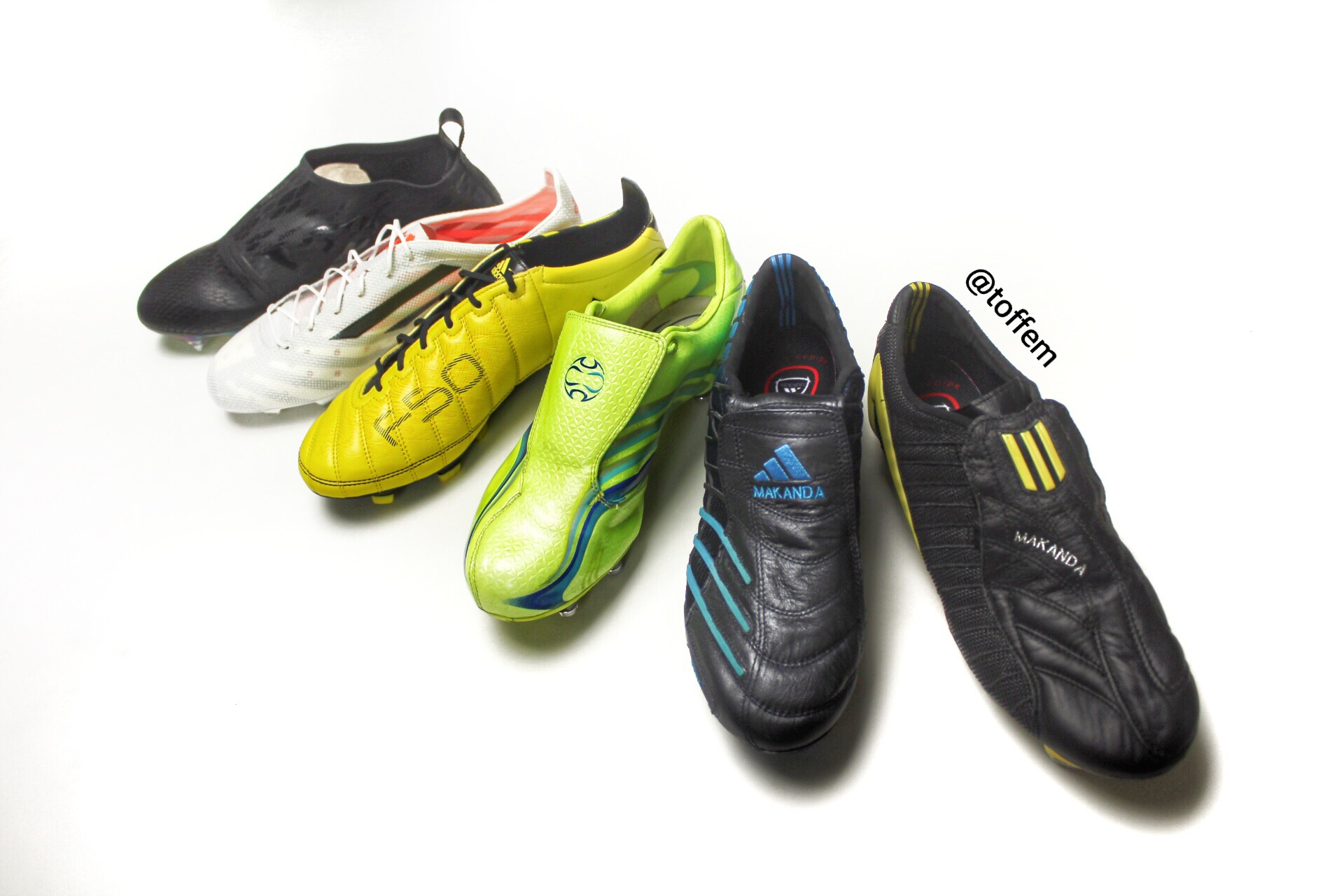 8a5adf427 The Adidas F50 range was a succes for many years. The first boot came out  in 2003 with the cool launch colourway black and yellow