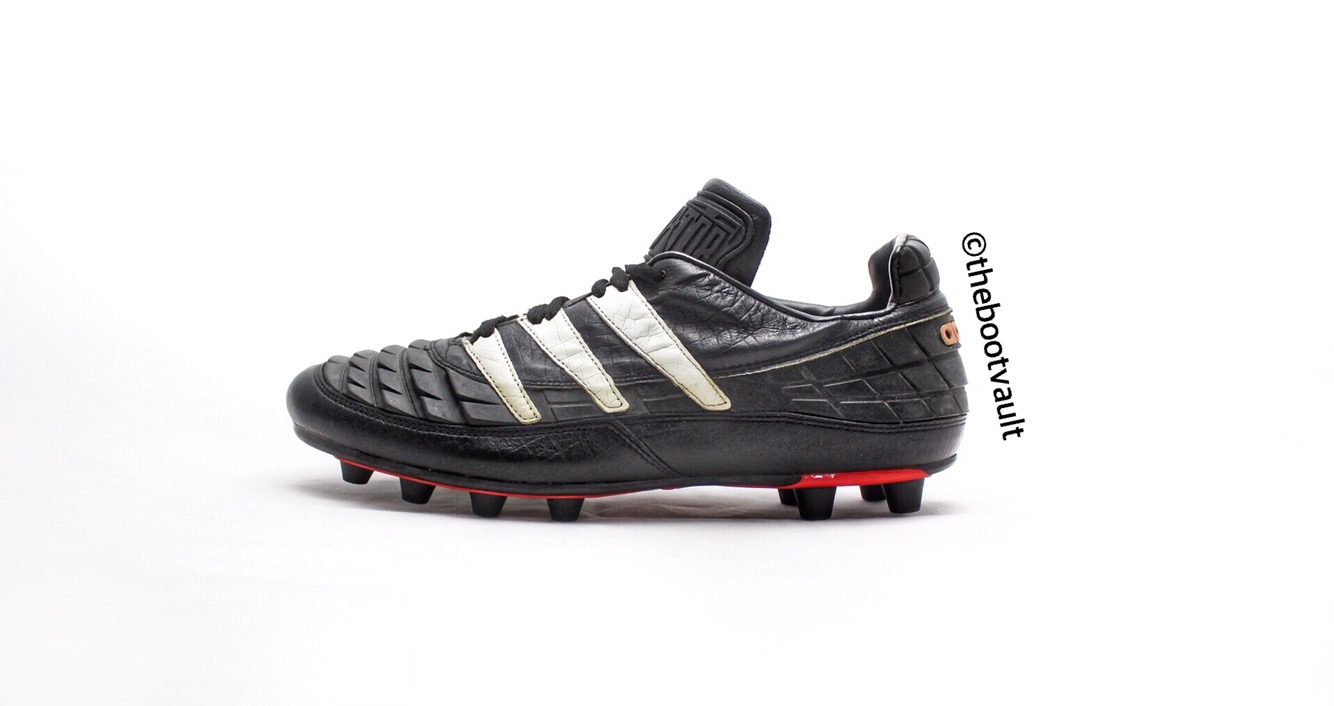 cb34c48eb The original Adidas Predator released in 1994 was revolutionary in the way  it managed to add power and swerve to the kick thanks to the rubber fins!